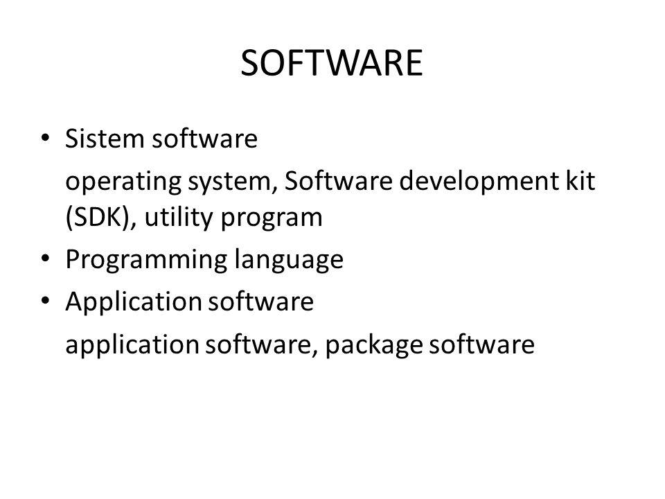 SOFTWARE Sistem software