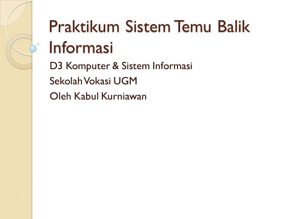Praktikum Sistem Temu Balik Informasi