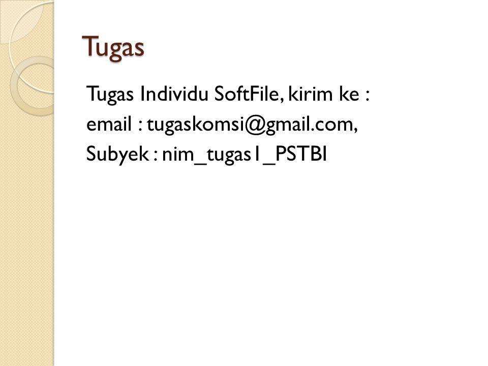 Tugas Tugas Individu SoftFile, kirim ke :