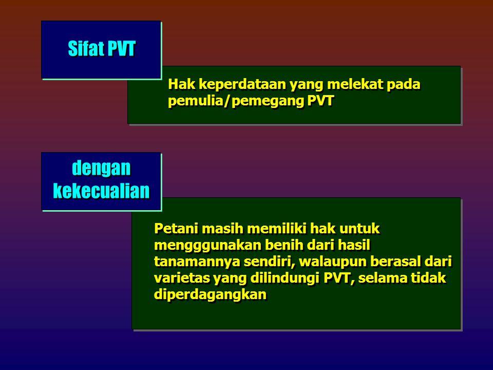 Sifat PVT dengan kekecualian