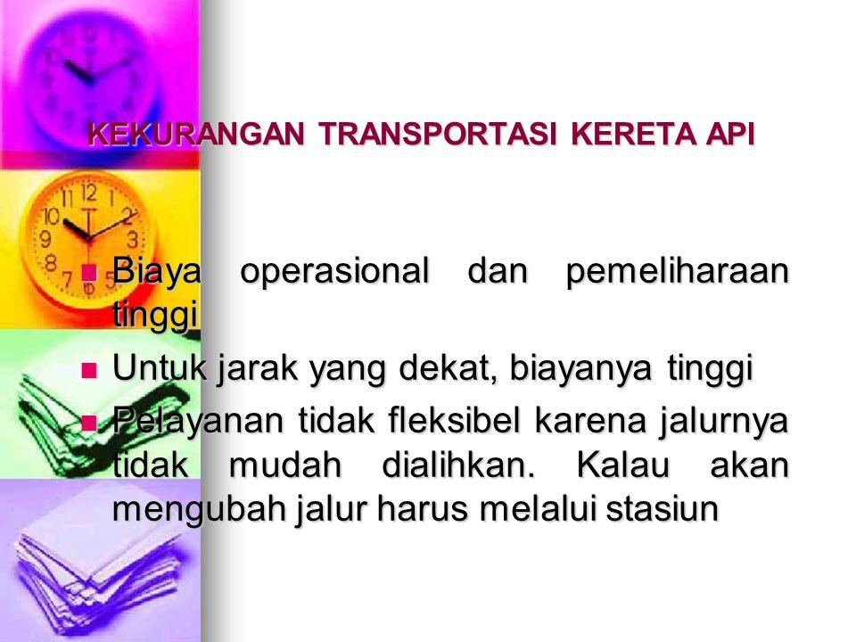 KEKURANGAN TRANSPORTASI KERETA API