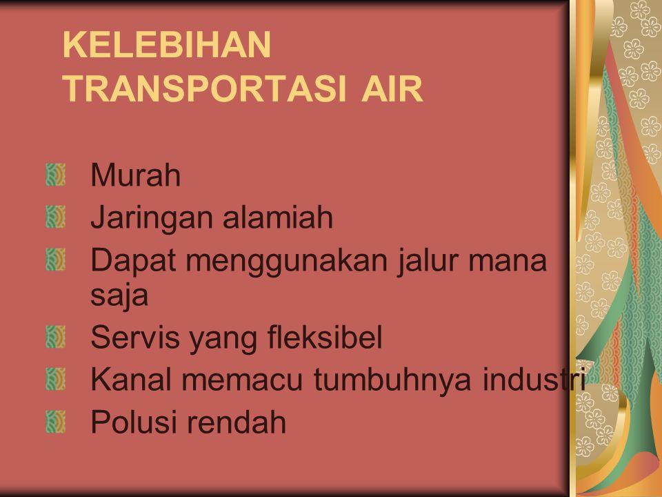 KELEBIHAN TRANSPORTASI AIR