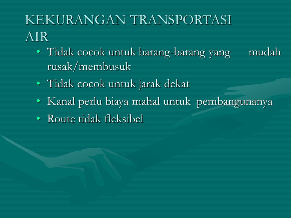 KEKURANGAN TRANSPORTASI AIR