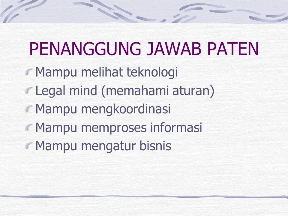 PENANGGUNG JAWAB PATEN