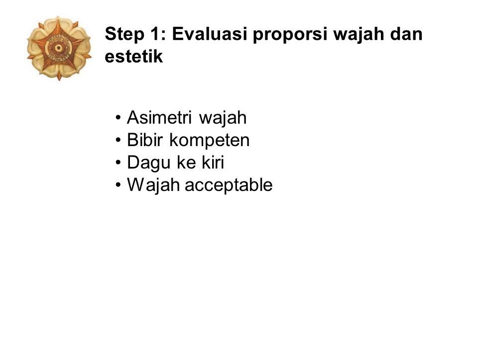 Step 1: Evaluasi proporsi wajah dan estetik