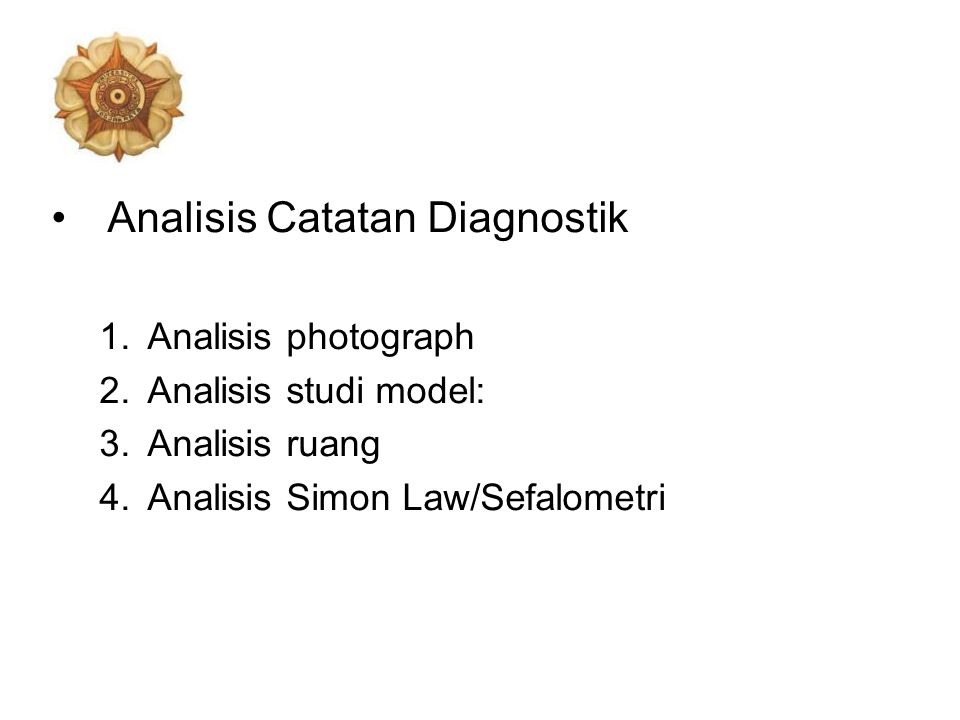Analisis Catatan Diagnostik