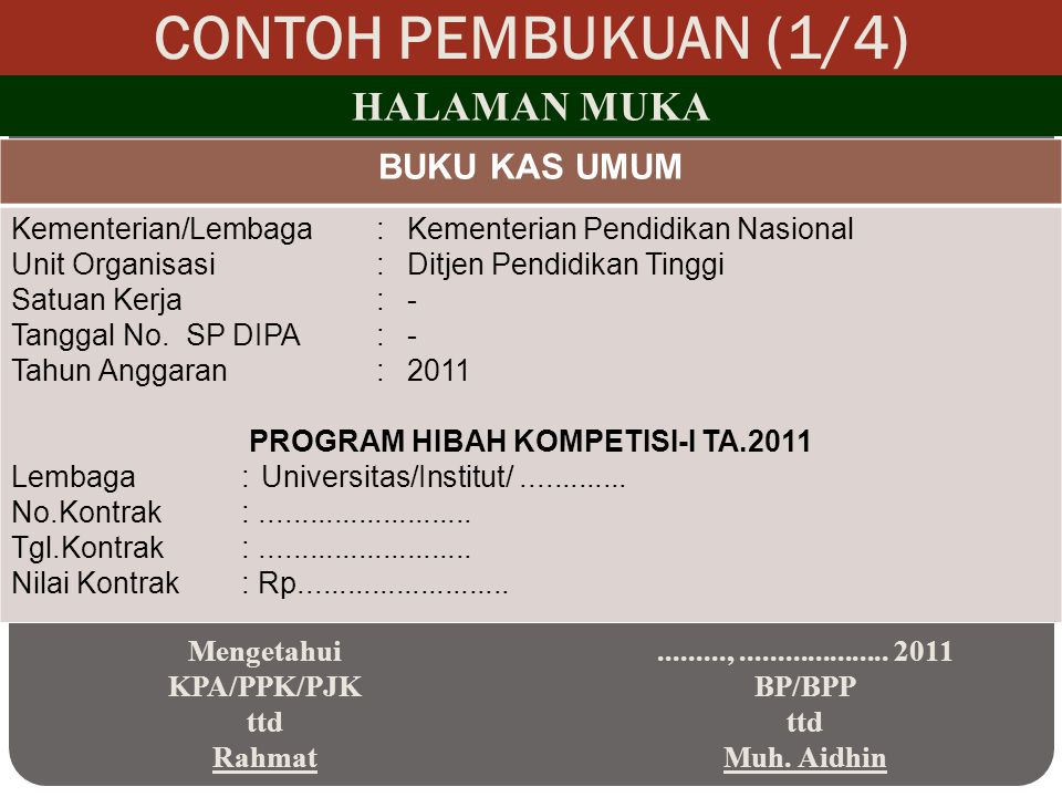 PROGRAM HIBAH KOMPETISI-I TA.2011
