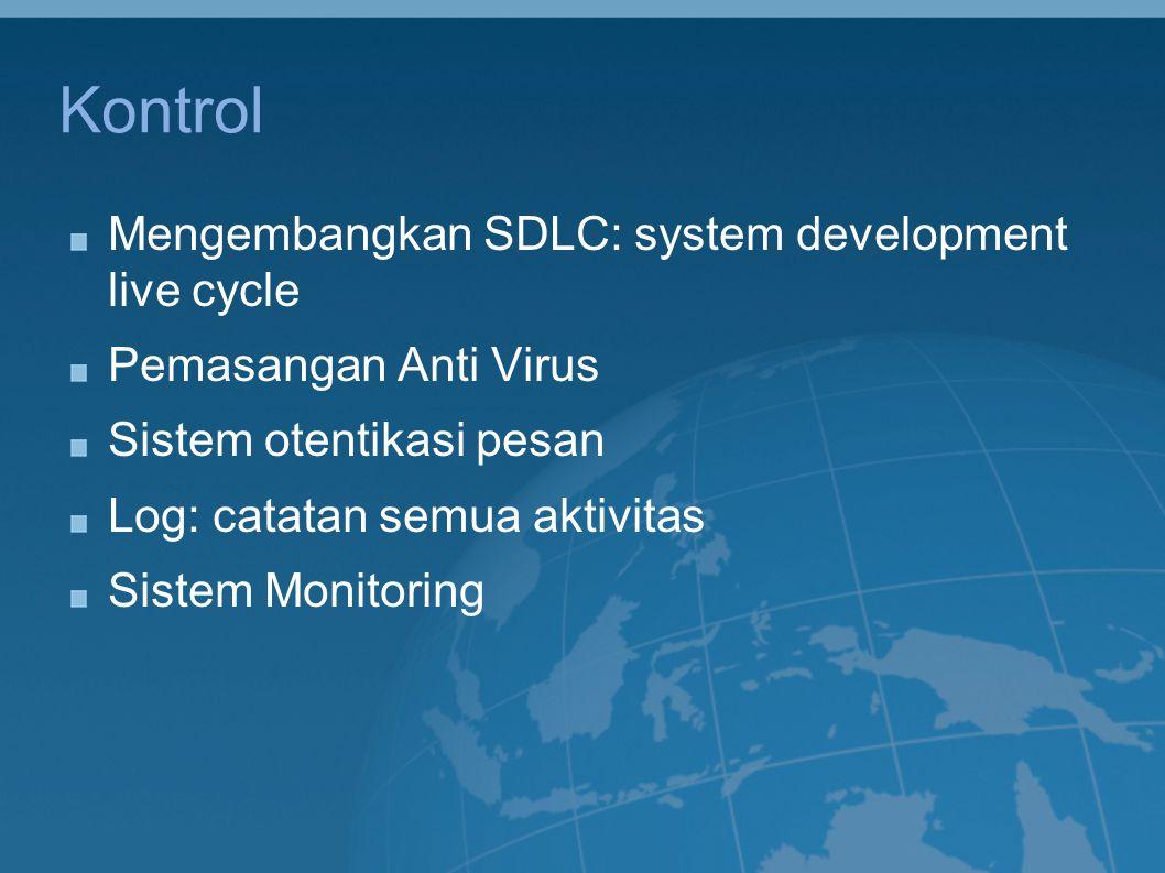 Kontrol Mengembangkan SDLC: system development live cycle