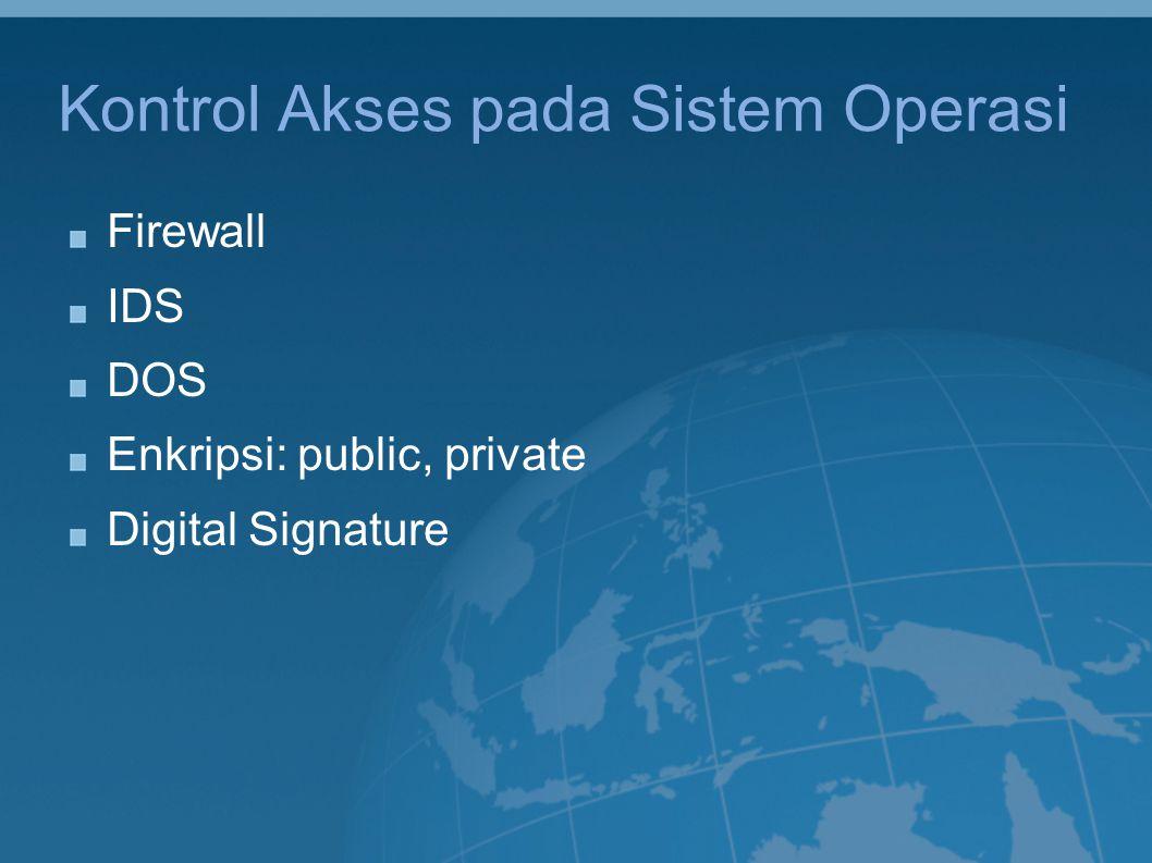 Kontrol Akses pada Sistem Operasi