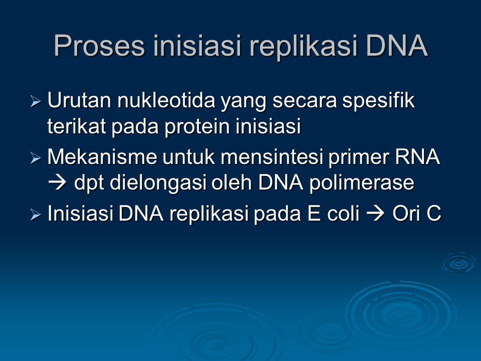 Proses inisiasi replikasi DNA