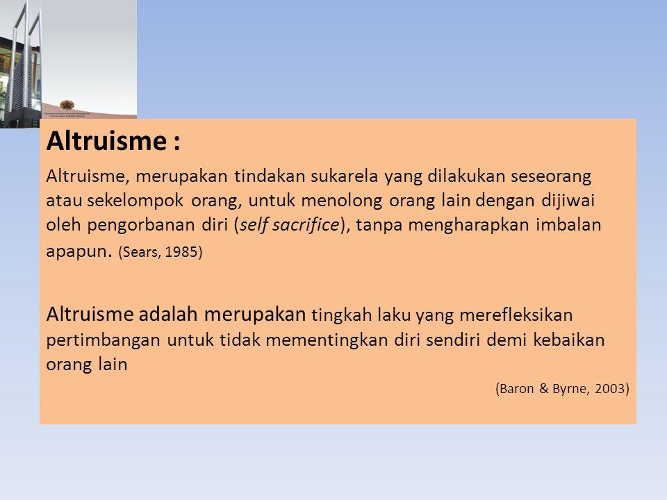 Altruisme :