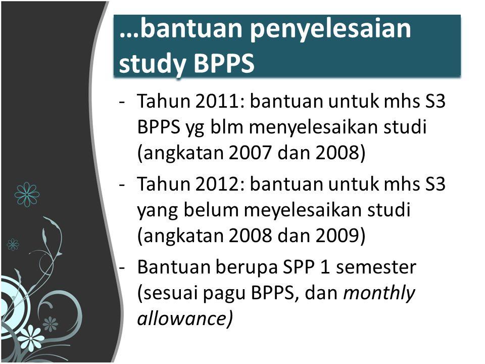 …bantuan penyelesaian study BPPS
