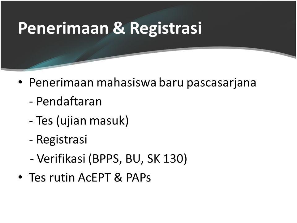 Penerimaan & Registrasi