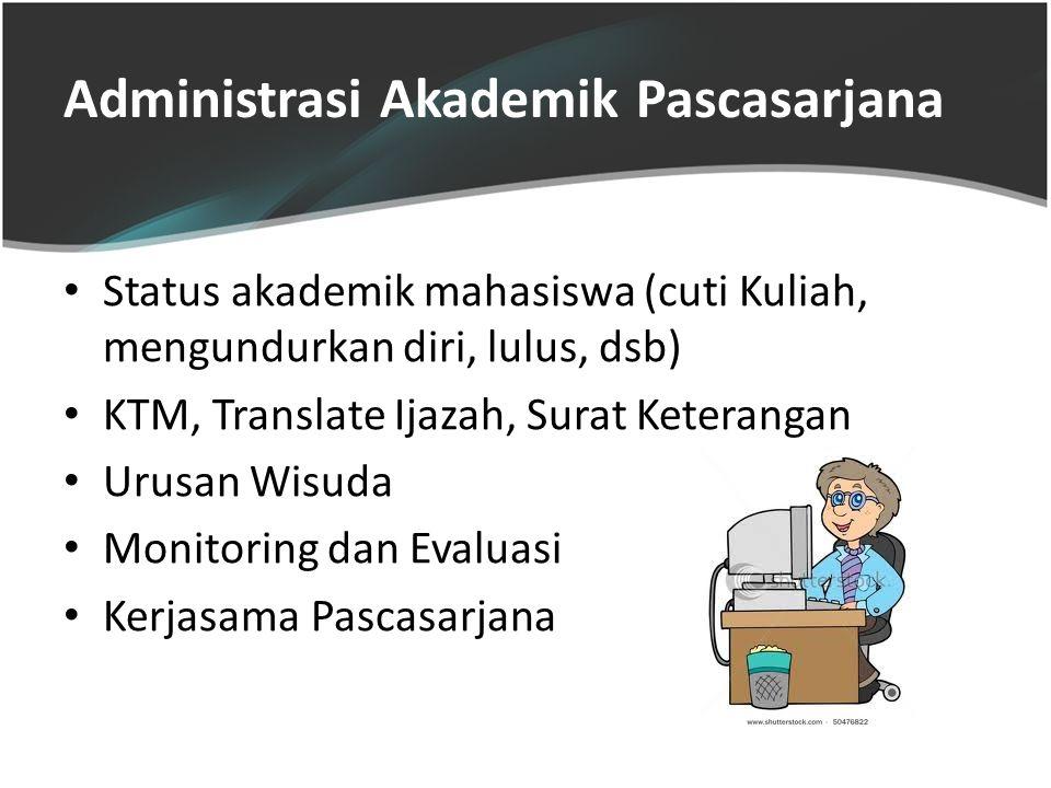 Administrasi Akademik Pascasarjana