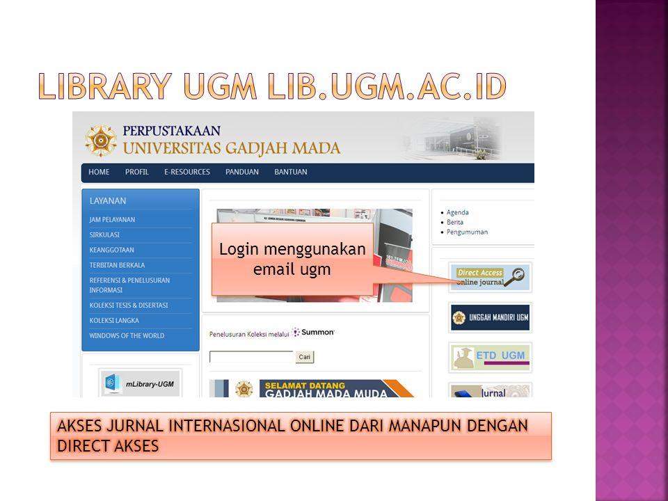 LIBRARY UGM lib.ugm.ac.id
