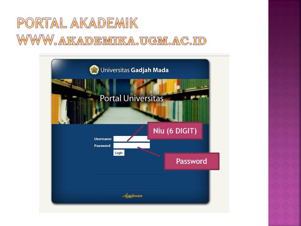 Portal AKADEMIK www.AKADEMIKA.UGM.AC.ID