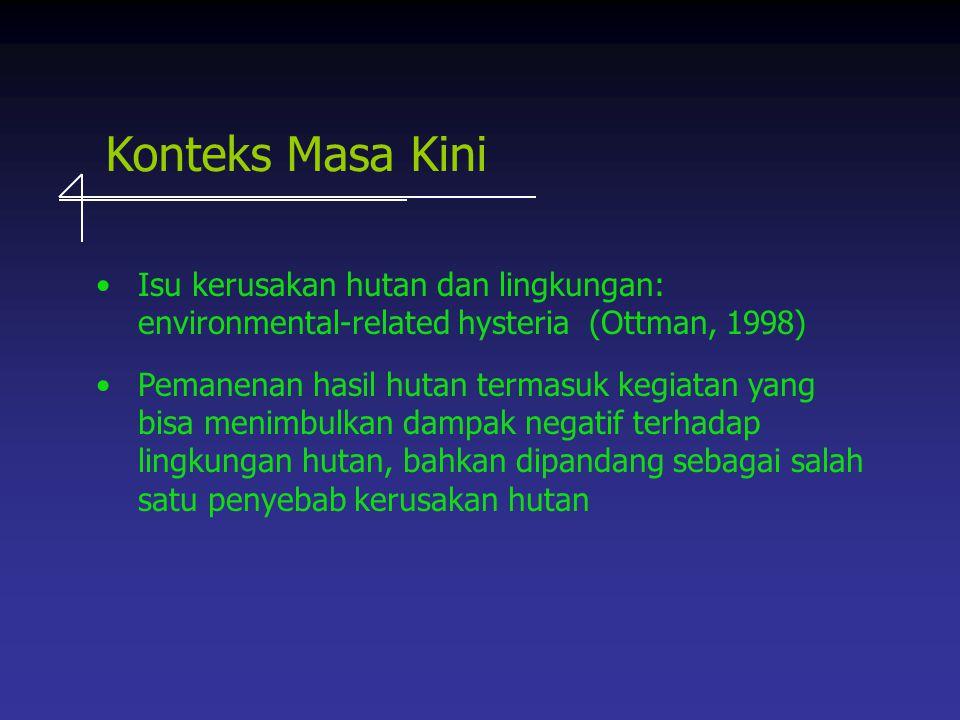 Konteks Masa Kini. Isu kerusakan hutan dan lingkungan: environmental-related hysteria (Ottman, 1998)