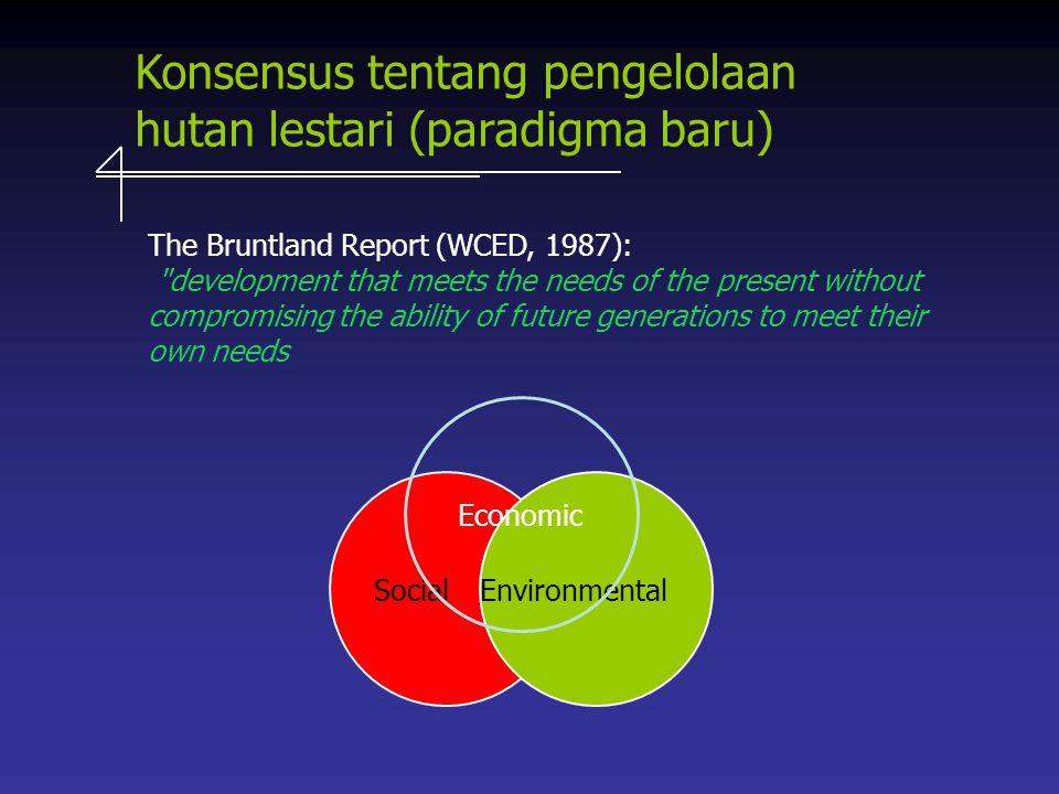 Konsensus tentang pengelolaan hutan lestari (paradigma baru)
