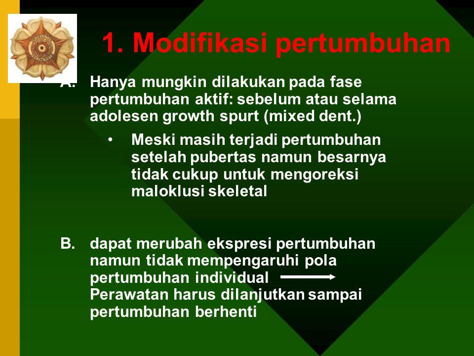 1. Modifikasi pertumbuhan