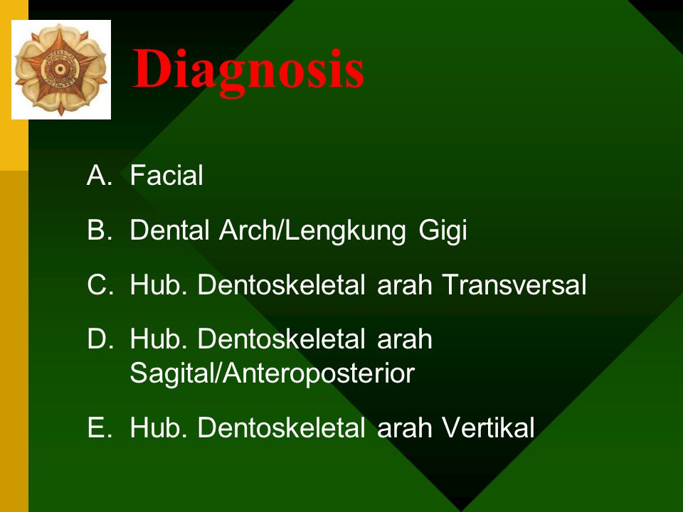 Diagnosis Facial Dental Arch/Lengkung Gigi