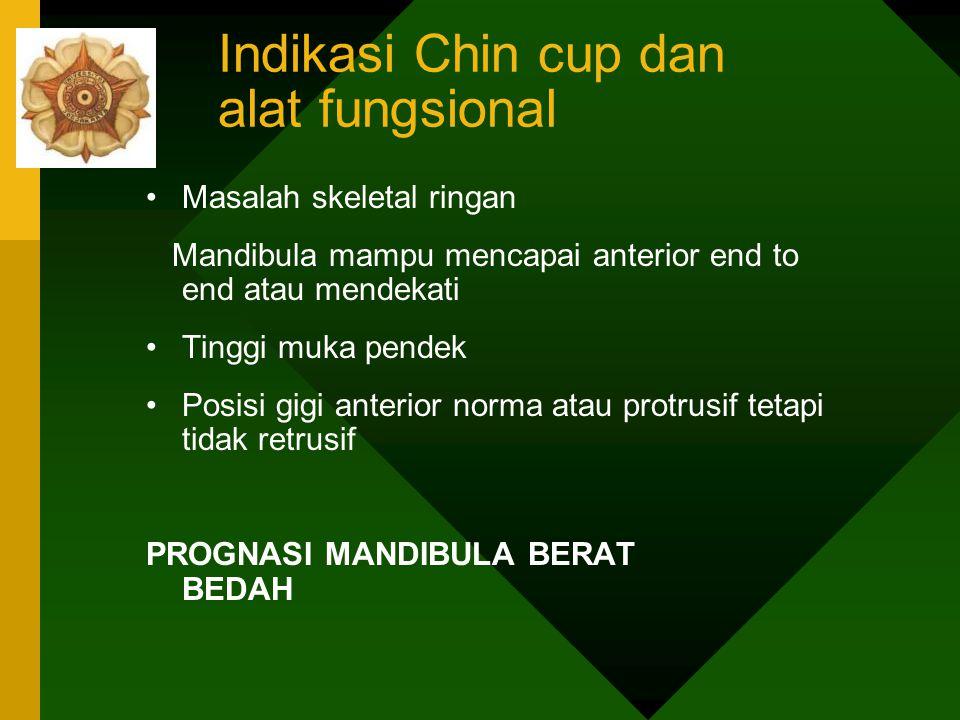 Indikasi Chin cup dan alat fungsional