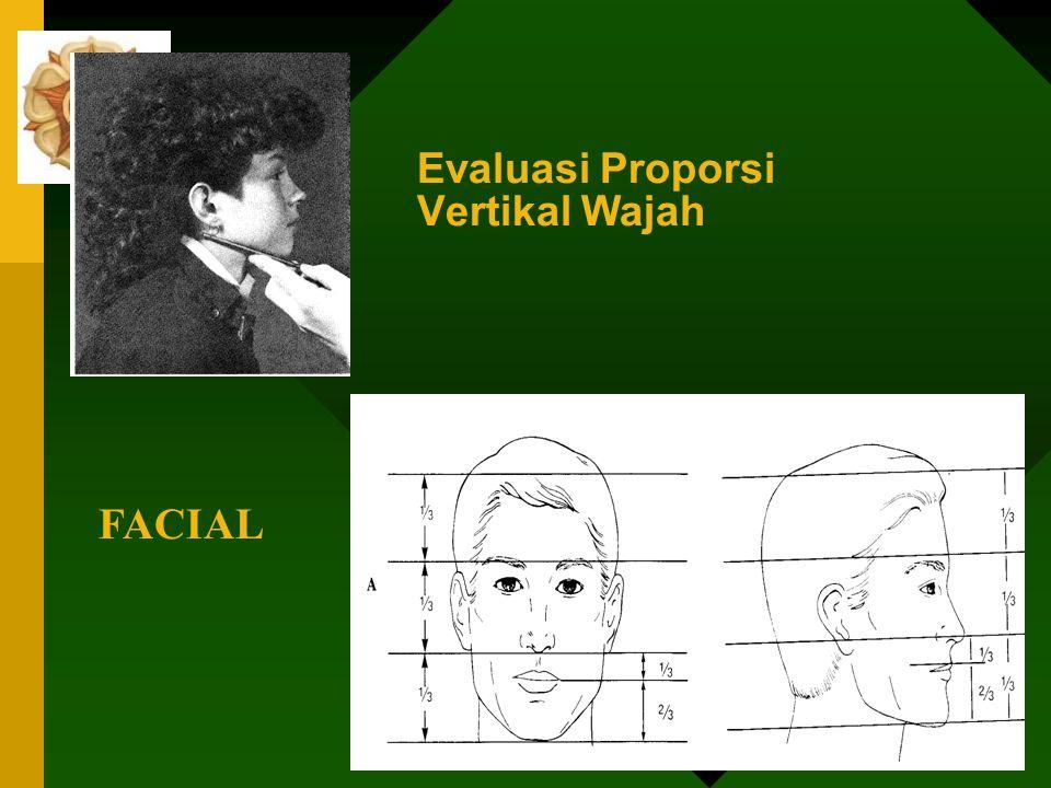 Evaluasi Proporsi Vertikal Wajah