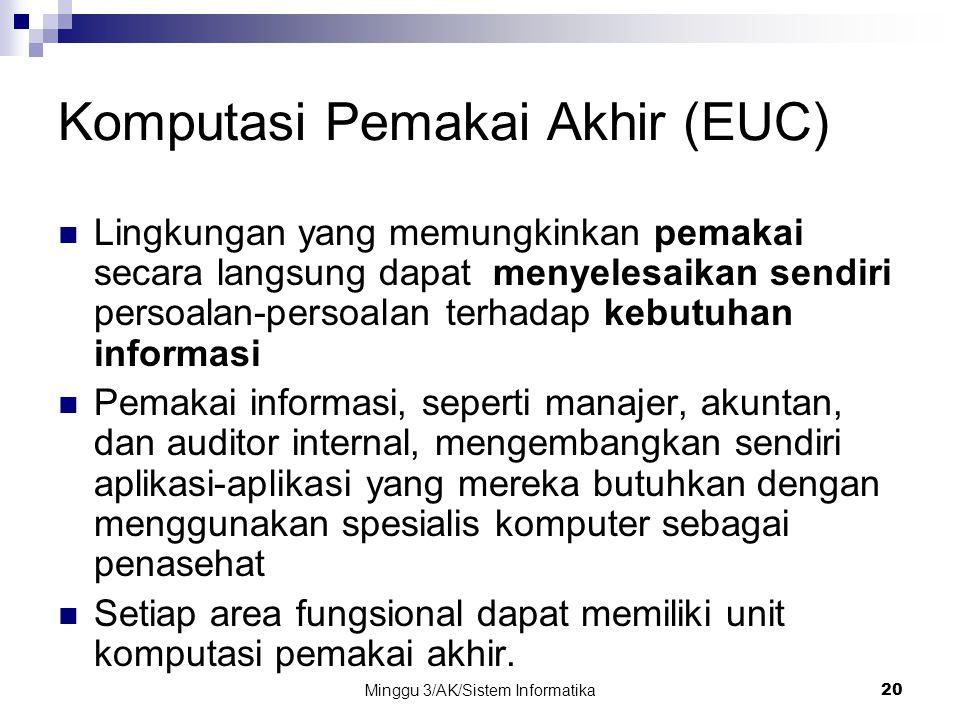 Komputasi Pemakai Akhir (EUC)