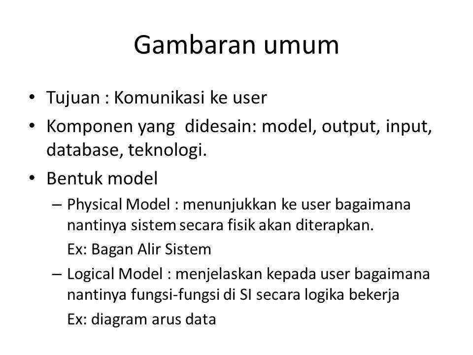 Gambaran umum Tujuan : Komunikasi ke user