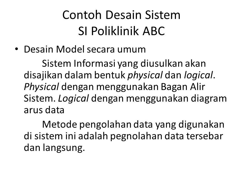Contoh Desain Sistem SI Poliklinik ABC
