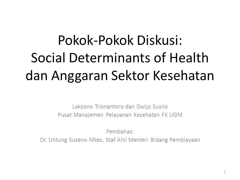Pokok-Pokok Diskusi: Social Determinants of Health dan Anggaran Sektor Kesehatan
