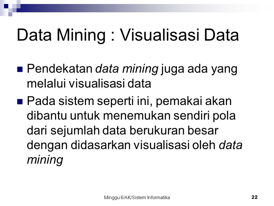 Data Mining : Visualisasi Data