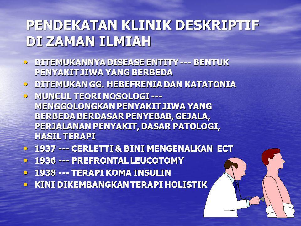 PENDEKATAN KLINIK DESKRIPTIF DI ZAMAN ILMIAH