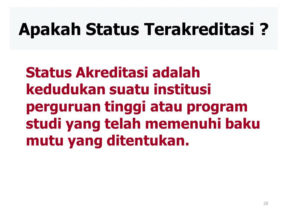 Apakah Status Terakreditasi