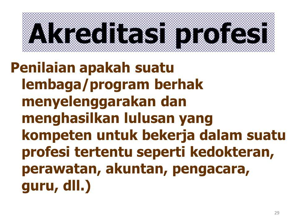 Akreditasi profesi