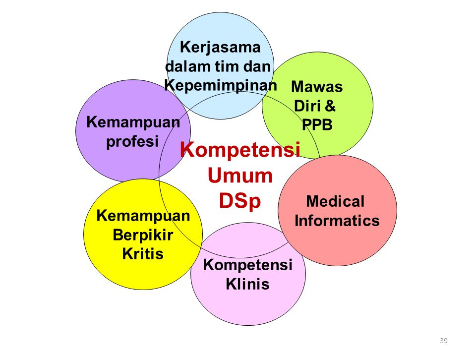 Kompetensi Umum DSp Kerjasama dalam tim dan Kepemimpinan Mawas Diri &