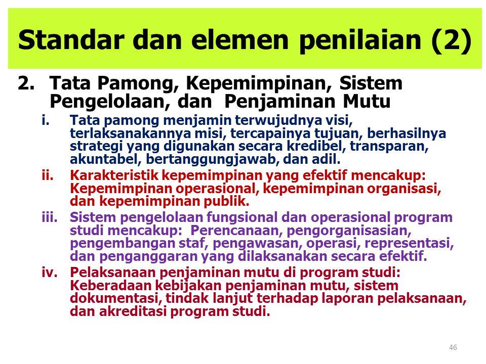 Standar dan elemen penilaian (2)