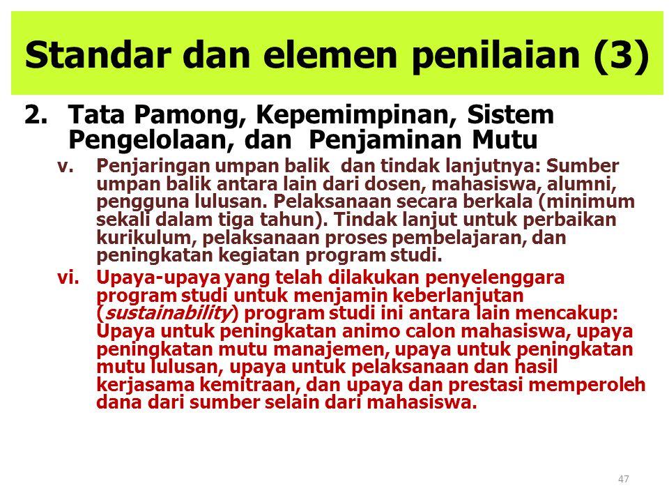 Standar dan elemen penilaian (3)