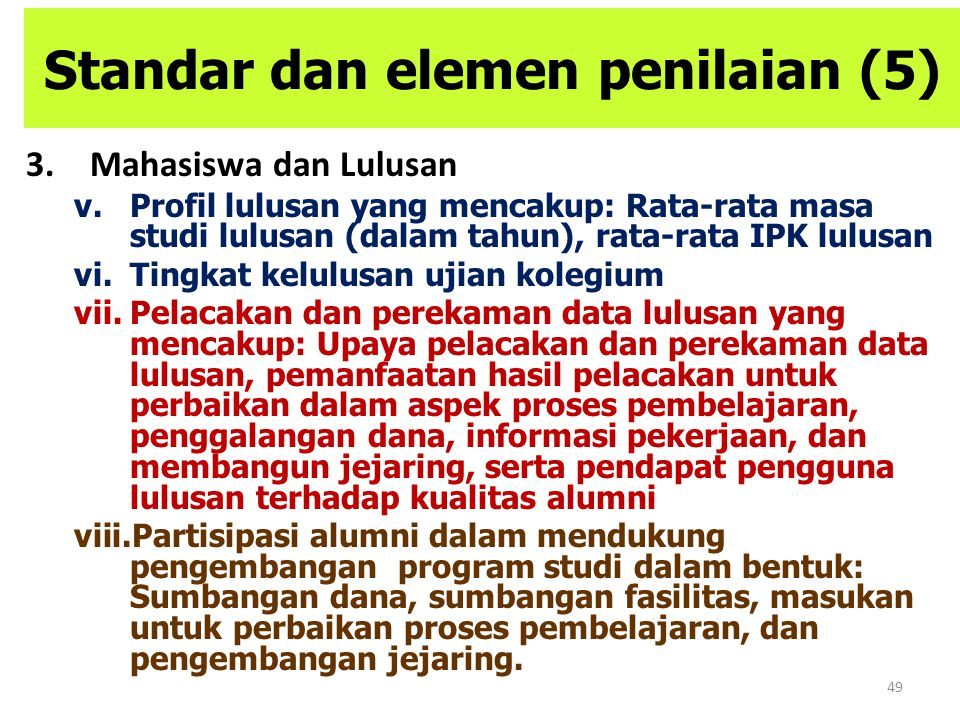 Standar dan elemen penilaian (5)