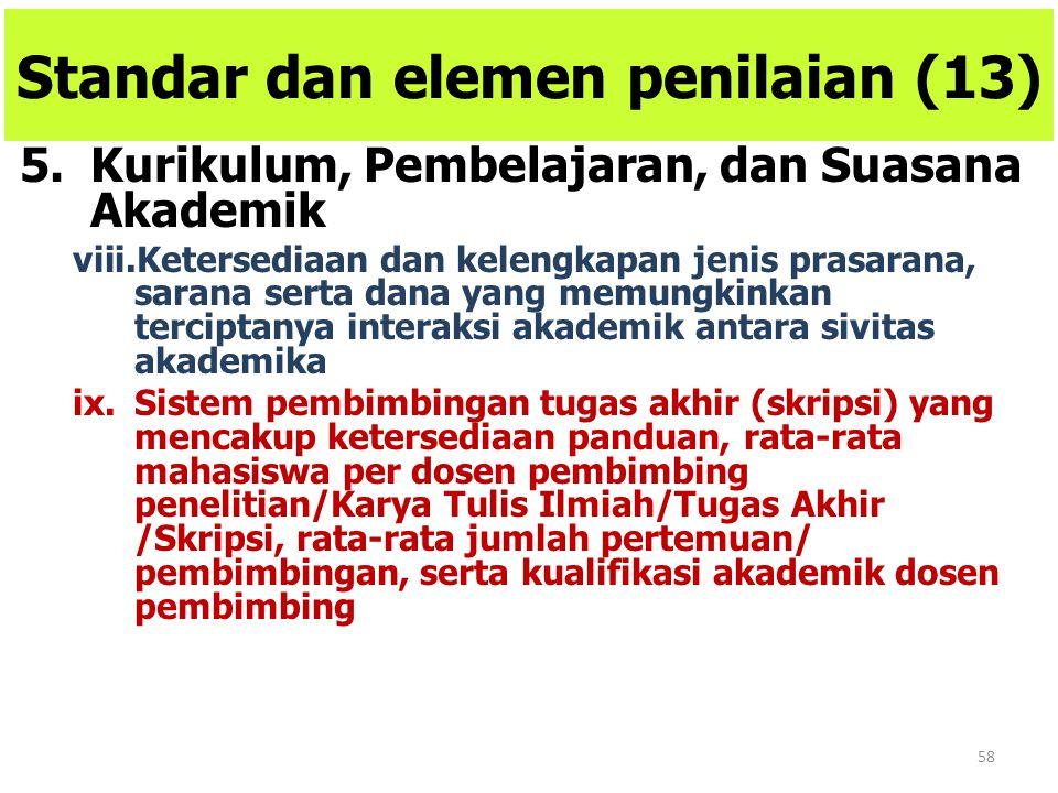 Standar dan elemen penilaian (13)