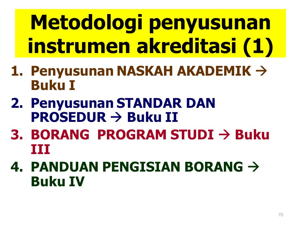 Metodologi penyusunan instrumen akreditasi (1)