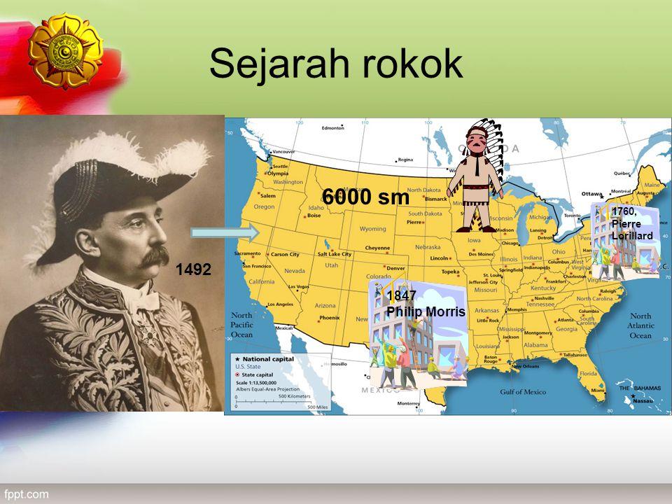 Sejarah rokok 6000 sm 1760, Pierre Lorillard 1492 1847 Philip Morris