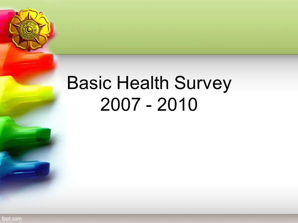 Basic Health Survey 2007 - 2010