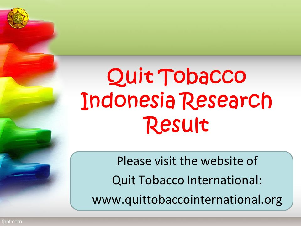 Quit Tobacco Indonesia Research Result