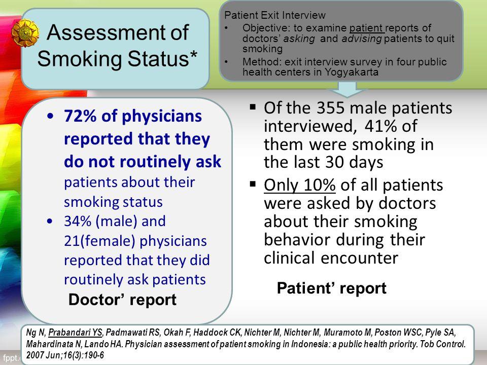 Assessment of Smoking Status*