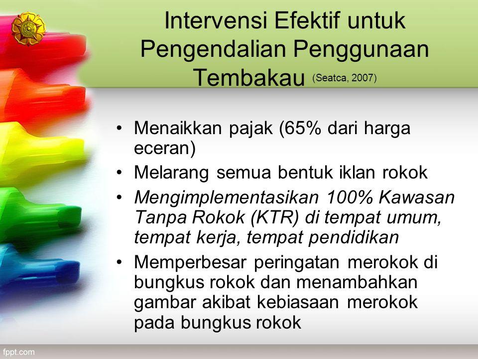 Intervensi Efektif untuk Pengendalian Penggunaan Tembakau (Seatca, 2007)