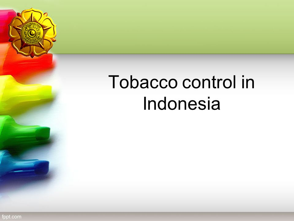 Tobacco control in Indonesia