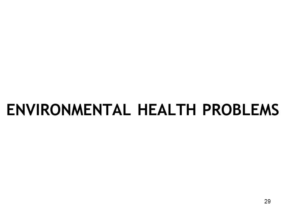 ENVIRONMENTAL HEALTH PROBLEMS