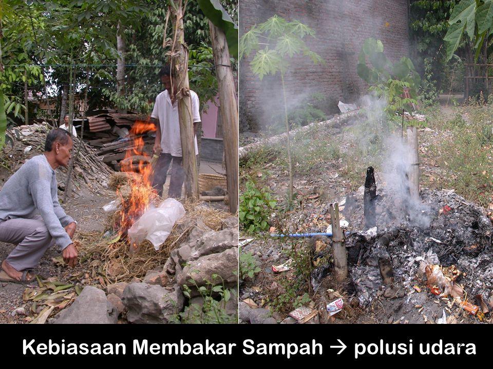 Kebiasaan Membakar Sampah  polusi udara