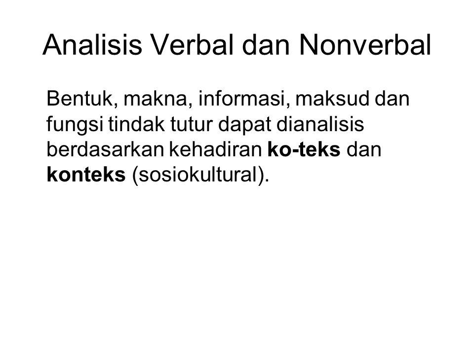 Analisis Verbal dan Nonverbal