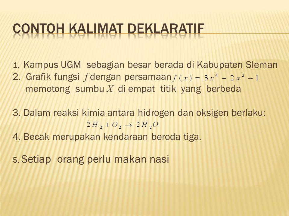 Contoh kalimat deklaratif
